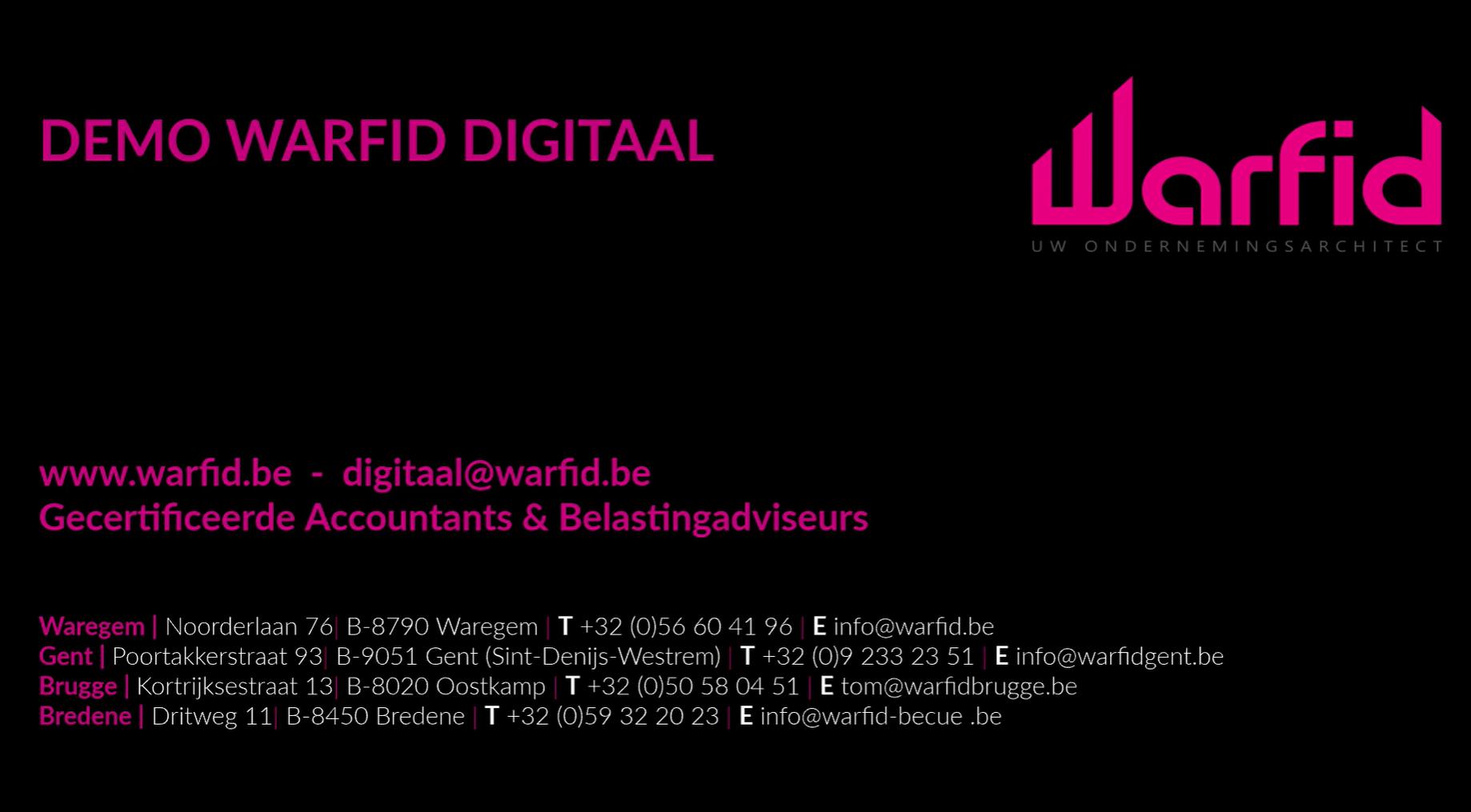 Warfid Digitaal Demo